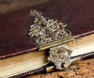 book, intricate, and leather image