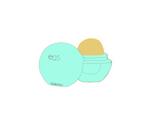 eos, lip balm, and tumblr image