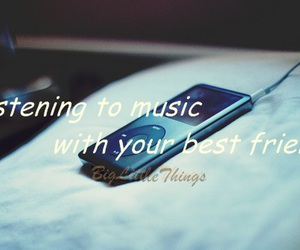 best friends, friendship, and mp3 image