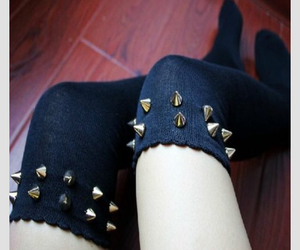 black, rock, and studs image