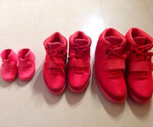 red, family, and shoes image