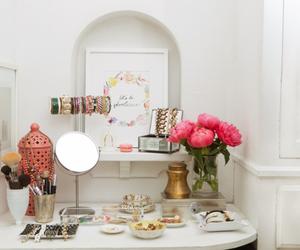 decor, girl, and makeup image