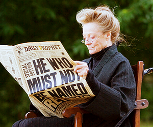 harry potter, maggie smith, and minerva mcgonagall image