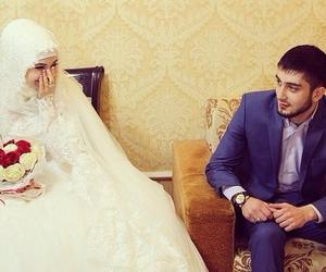 wedding, hijab, and islam image