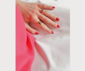 coral, fashion, and manicure image