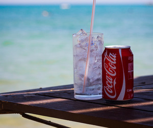 beach, coca cola, and summer image