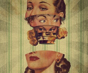 vintage, woman, and eyes image