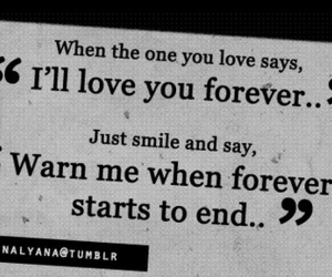forever, love, and quote image