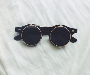 glasses, sunglasses, and black image