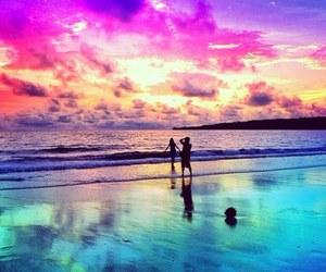 love, beautiful, and beach image