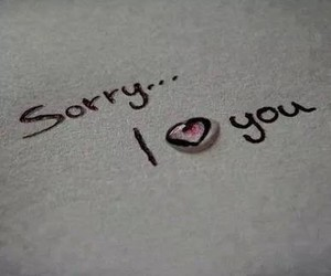 heart, sorry, and love image