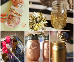 diy, gold, and glitter image