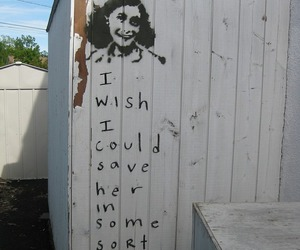 anne frank, quote, and sad image