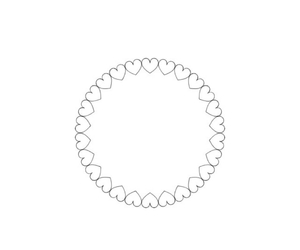 black and white, circle, and hearts image