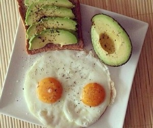 breakfast, delicious, and eggs image