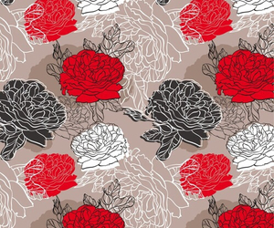flowers, red, and wallpaper image