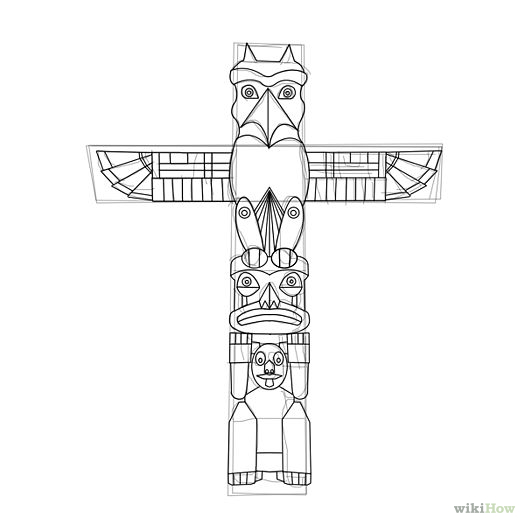 Printable Totem Pole Coloring Pages For Kids | Cool2bKids ... | 525x525