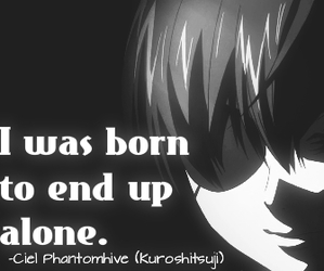 alone, anime, and black image