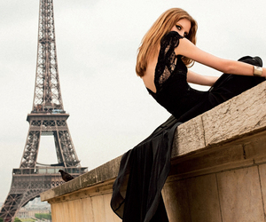 black dress, fashion, and model image