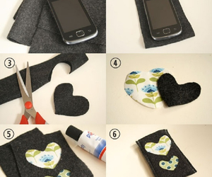 diy, case, and heart image