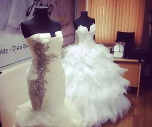 dress, wedding, and perfect image
