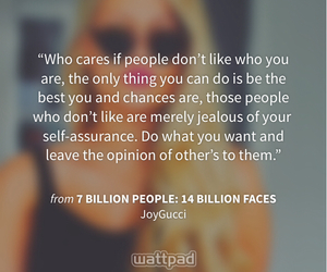 be yourself, jealous, and quote image