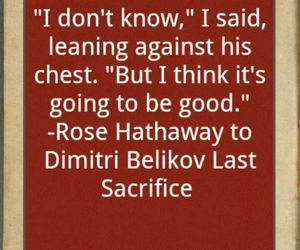 book, quote, and rose hathaway image