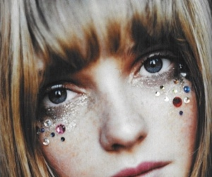 girl, glitter, and eyes image