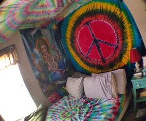 hippie, room, and love image