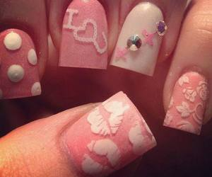 nails, pink, and lips image