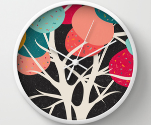 colorful, pattern, and wallclock image