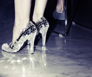 shoes, disco, and heels image
