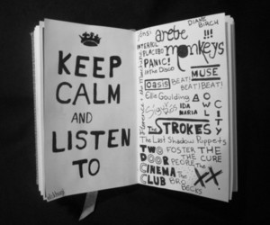 keep calm, arctic monkeys, and music image