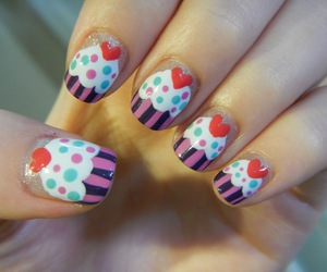 colorful, polish, and cupcakes image
