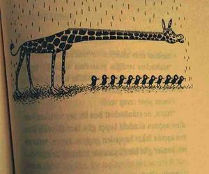 bird, giraffe, and book image