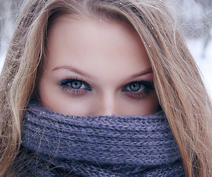 eyes, winter, and girl image