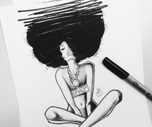 art, artwork, and hip-hop image
