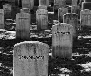 unknown, black and white, and cemetery image