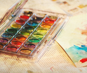 artist, paint, and watercolours image