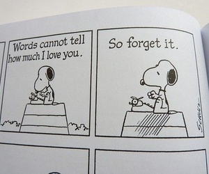 love, snoopy, and words image