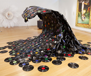 music, art, and wave image