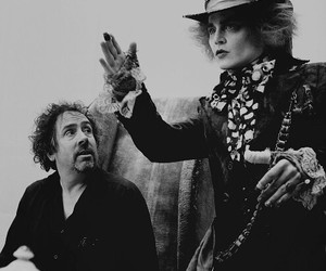 tim burton, johnny depp, and alice in wonderland image