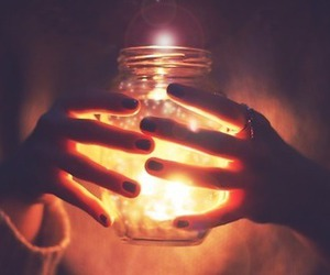 hands, pretty, and lights image