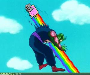 death, rainbow, and nyan image