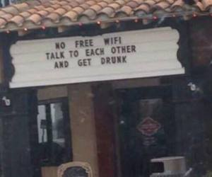 wifi, drunk, and bar image