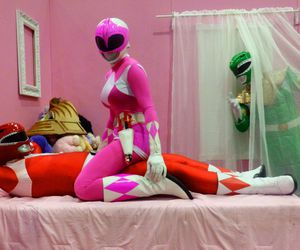 funny and power rangers image