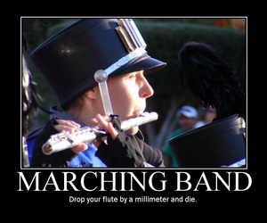 flute, marching band, and truth image