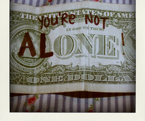 alone, dollar, and money image