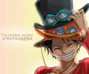 luffy, ace, and one piece image