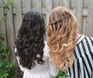 blonde, brunette, and girls image